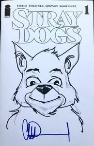 Image Comics Stray Dogs #1 Blank Cover With RUSTY Sketch By Charlie Adlard
