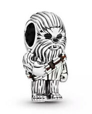 💎🎀 STERLING SILVER 925 STAR WARS CHEWBACCA CHARM & POUCH