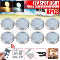 8 x 12V Interior LED Spot Ceiling Light Downlight Camper Caravan Motorhome  *