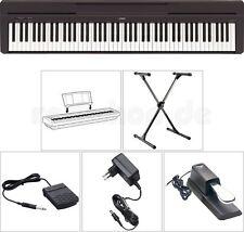 Yamaha P45 B Digital E-Piano Klavier mit X-Stativ + Sustain Pedal + Netzteil