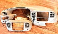 1997-2003 Ford F-150 Expedition Dash Cluster Bezel Radio Surround Beige NICE!