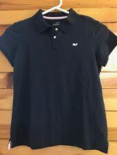 Vineyard Vines Navy Polo Shirt Girls Short Sleeve Size L 14