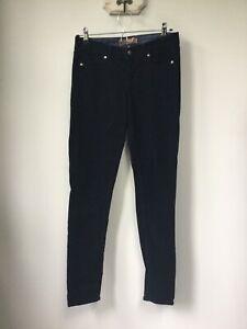 Gorgeous Ladies Paige Navy Blue Velvet Verdugo Jegging Jeans, UK Size W26, Very