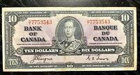 1937 $10 BANK OF CANADA D/T COYNE-TOWERS - V.F Cond!