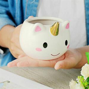 Novelty Mugs Tea Coffee Cup 3D Shaped Unicorn Llama Ceramic Kids Gifts UK
