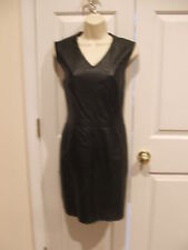 new in pkg newport news/styleworks all leather sheath dress size 8