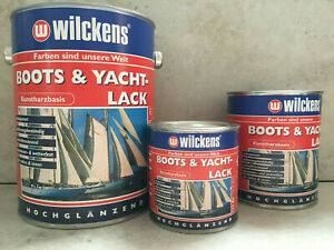 Wilckens Boots-u.Yachtlack Klar hochglänzend seewasser u.wetterfest innen/außen