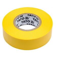 5 Rotoli Nastro Isolante Giallo PVC 10m 19mm 0,13mm Insulating Tape Elettricista