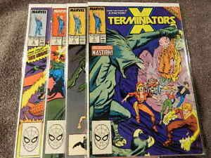 1988 MARVEL Comics X-TERMINATORS #1-4 Complete Limited Series - X-FACTOR - VF/NM