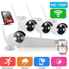 Wireless 8CH NVR 720P Waterproof Wifi Camera Security System Night Vision 1TB