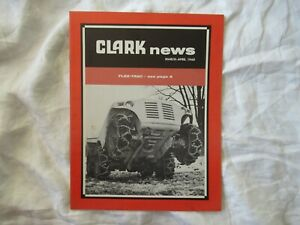 1960 Clark equipment news brochure flex-trac tractor