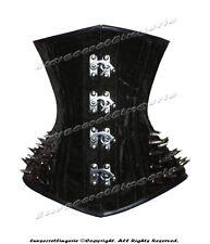 18 Double Steel Boned Waist Training Velvet Underbust Shaper Corset #8337-SB-VEL