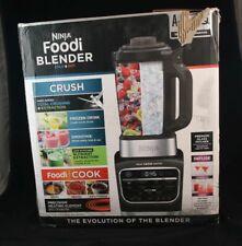 New Ninja Foodi Hot & Cold Blender, HB152 Auto-iQ + Heat, Stainless Steel/Black