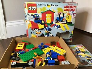 LEGO Mickey's Car Garage Set 4166 - Includes Pluto/Mouse Minifigures -Incomplete