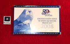 2008 US MINT STATE QUARTER PROOF SET - OGP W/ Box And COA