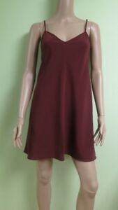 Women's Brown Adjustable Strappy Slip Lining  for Dress, Blouse, Tunic  XS