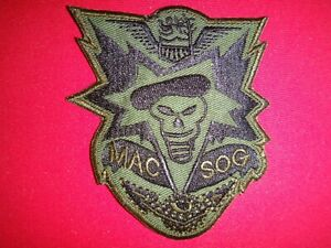 US 5th Special Forces Group MACV-SOG Team Vietnam War Subdued Patch