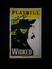 More details for idina menzel signed wicked playbill broadway musical. jennifer laura thompson