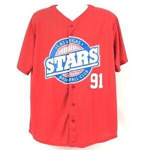 Las Vegas Stars Baseball Club Jersey 91 Mens Size XL 51s Red Minor League Nevada