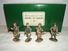 KING & COUNTRY WS027 Four Panzer Grenadiers on Patrol SET RETIRED