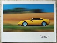 Venturi Coupé 200 & 260 HP Sports Cars sales brochure 1989 #rc 65b 3802 1989