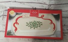 NEW Lenox Holiday Christmas Oblong Platter 14 Inches Plate Dish