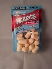 Ear plugs Hearos Softstar Foam NexGen 14 pair + case. Lot Of 4
