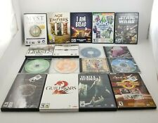 Lot of 16 PC Games CD Rom, Elder, Guild, War Craft, Star Wars, Riven, X Wing