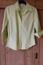 "Ladies Lemon  summer Cotton 3/4 sleeve Shirt 34"" chest eu 40 VGC stretch cotton"