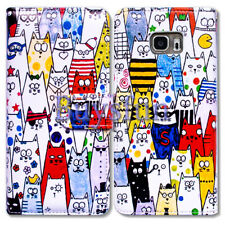 Bcov Popular Cute Cat Wallet Leather Cover Case For Samsung Galaxy S7 Edge