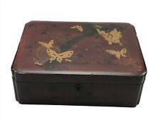 """Antique Chinese Lacquerware Box 9.5"""" x 7"""" Inches <CT01 (T32)"""