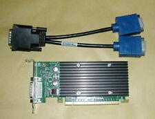 512MB NVIDIA Quadro NVS300 SFF Multi View Graphics Card + Dual VGA Splitter