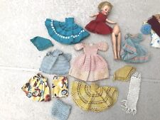 Vintage Lot CROCHET Doll Clothes + 1950's Ideal Miss Revlon VT-10 1/2 Doll