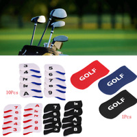 10pcs Golf Club Iron Head Covers Putter Protector Case Headcovers Golfer Gifts