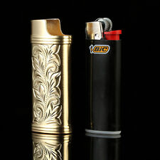 Golden BIC lighter metal case cover for mini BIC lighter no lighter,DF4-1