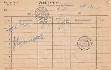 A 2168 Verdikart Trondheim - Kirkenes Dec 1937 cds and Sandkollen Dec 1937 cds