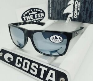 "COSTA DEL MAR tiger shark/silver REMORA ""OCEARCH"" POLARIZED 580P sunglasses NEW!"