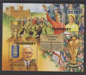 Guernesey - 1998, Cambridge Règles Pour Football Feuille - MNH - Sg MS780