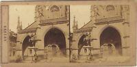 Suisse Cattedrale Da Bern Berna Foto Stereo Vintage Albumina Ca 1858