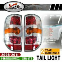 FIT FOR MAZDA BT50 XTR UTE PICKUP TAIL LIGHTS PAIR 2008-2011 L & R CHROME NEW