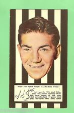 #D83.  COLLINGWOOD NEIL MANN 1953 ARGUS FOOTBALL PORTRAIT MAXI CARD #38