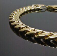 10K Yellow Gold Miami Cuban Link Bracelet 7.5 Inches , Franco, Italian 9mm