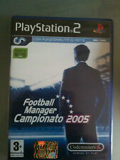 FOOTBALL MANAGER CAMPIONATO 2005   NUOVO SIGILLATO ITALIANO PS2