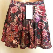 BERSHKA (Zara Group) New Skater Mini Skirt Multi Print BNWT (S) 8 UK