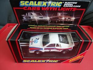 SCALEXTRIC BOXED 037 LANCIA RACING (MARTINI) C144 FRONT LIGHTS USED No7 1986