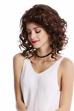 peluca de mujer hasta los hombros rizado raya GRAN Braun marrón oxidado CASTAÑO