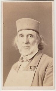 CDV of HIRAM POWERS  SCULPTOR  Photo by his Son Longworth Powers  Florence Italy