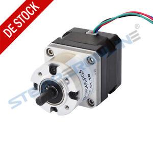 5:1 Planetengetriebe Nema 17 Getriebeschrittmotor Stepper Motor 0.4A L=33mm CNC