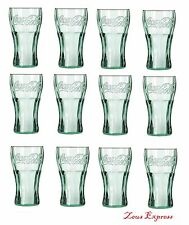 COCA COLA 16.75 OZ Glass 12 Piece Set Collectible Retro TUMBLER DRINKING Glasses
