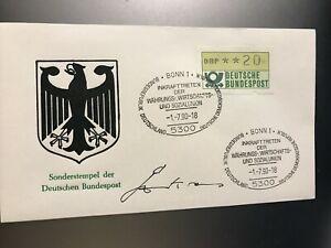 Autogramm Egon Krenz Nachfolger Honecker Umschlag SSt Wirtschaft-Währungsuni xyz